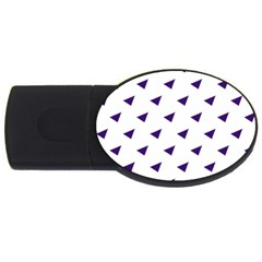 Triangle Purple Blue White Usb Flash Drive Oval (4 Gb)