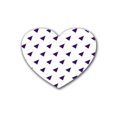 Triangle Purple Blue White Rubber Coaster (heart)
