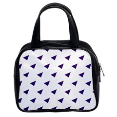 Triangle Purple Blue White Classic Handbags (2 Sides) by Alisyart