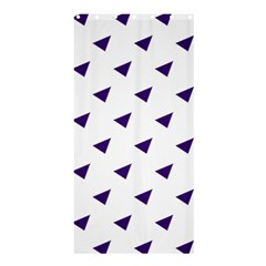 Triangle Purple Blue White Shower Curtain 36  X 72  (stall)