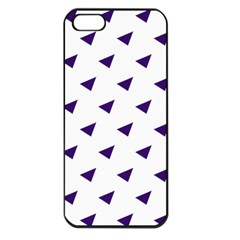 Triangle Purple Blue White Apple Iphone 5 Seamless Case (black)