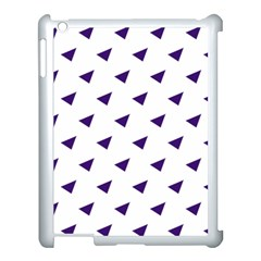 Triangle Purple Blue White Apple Ipad 3/4 Case (white)