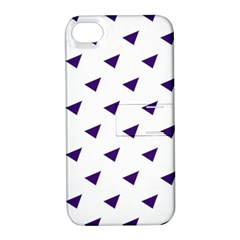 Triangle Purple Blue White Apple Iphone 4/4s Hardshell Case With Stand