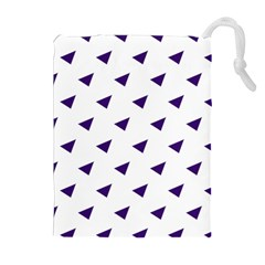 Triangle Purple Blue White Drawstring Pouches (extra Large)