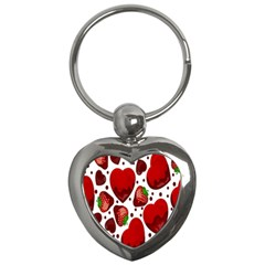 Strawberry Hearts Cocolate Love Valentine Pink Fruit Red Key Chains (heart)
