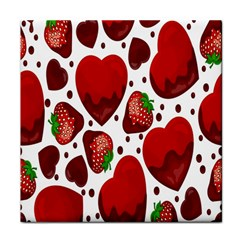 Strawberry Hearts Cocolate Love Valentine Pink Fruit Red Face Towel by Alisyart