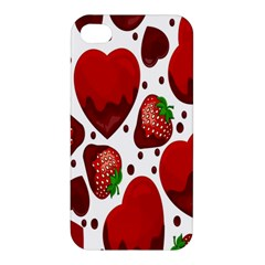 Strawberry Hearts Cocolate Love Valentine Pink Fruit Red Apple Iphone 4/4s Hardshell Case