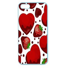 Strawberry Hearts Cocolate Love Valentine Pink Fruit Red Apple Seamless Iphone 5 Case (color)