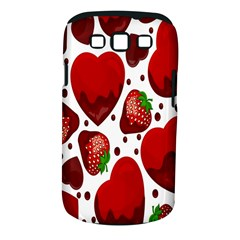 Strawberry Hearts Cocolate Love Valentine Pink Fruit Red Samsung Galaxy S Iii Classic Hardshell Case (pc+silicone)