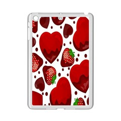 Strawberry Hearts Cocolate Love Valentine Pink Fruit Red Ipad Mini 2 Enamel Coated Cases by Alisyart