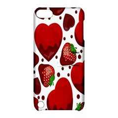 Strawberry Hearts Cocolate Love Valentine Pink Fruit Red Apple Ipod Touch 5 Hardshell Case With Stand