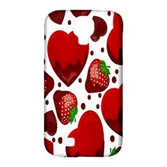 Strawberry Hearts Cocolate Love Valentine Pink Fruit Red Samsung Galaxy S4 Classic Hardshell Case (pc+silicone)
