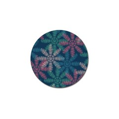 Spring Flower Red Grey Green Blue Golf Ball Marker (10 Pack) by Alisyart