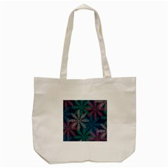 Spring Flower Red Grey Green Blue Tote Bag (cream)