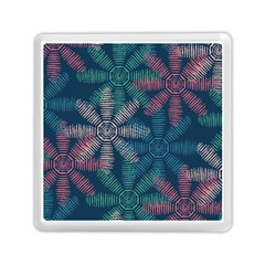 Spring Flower Red Grey Green Blue Memory Card Reader (square)  by Alisyart