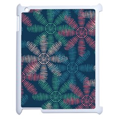 Spring Flower Red Grey Green Blue Apple Ipad 2 Case (white) by Alisyart