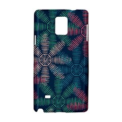 Spring Flower Red Grey Green Blue Samsung Galaxy Note 4 Hardshell Case by Alisyart