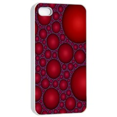 Voronoi Diagram Circle Red Apple Iphone 4/4s Seamless Case (white) by Alisyart