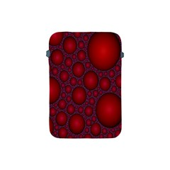 Voronoi Diagram Circle Red Apple Ipad Mini Protective Soft Cases by Alisyart
