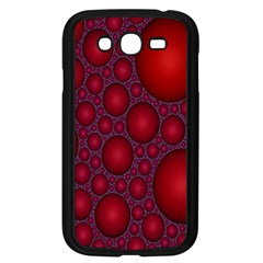 Voronoi Diagram Circle Red Samsung Galaxy Grand Duos I9082 Case (black) by Alisyart
