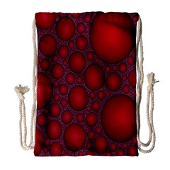 Voronoi Diagram Circle Red Drawstring Bag (large)