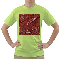 Texture Stone Red Green T Shirt
