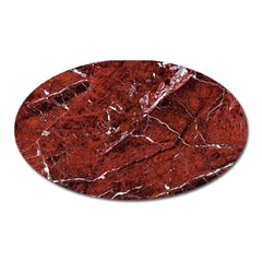 Texture Stone Red Oval Magnet