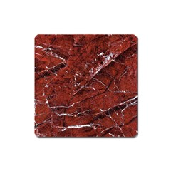 Texture Stone Red Square Magnet