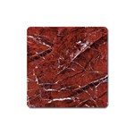 Texture Stone Red Square Magnet Front