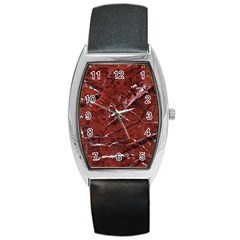 Texture Stone Red Barrel Style Metal Watch