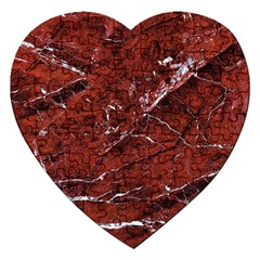 Texture Stone Red Jigsaw Puzzle (heart)