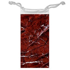 Texture Stone Red Jewelry Bag