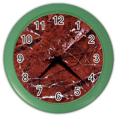 Texture Stone Red Color Wall Clocks