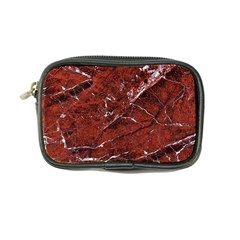 Texture Stone Red Coin Purse