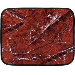 Texture Stone Red Double Sided Fleece Blanket (mini)