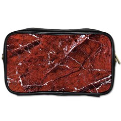 Texture Stone Red Toiletries Bags 2 Side