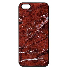 Texture Stone Red Apple Iphone 5 Seamless Case (black)