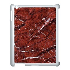 Texture Stone Red Apple Ipad 3/4 Case (white)