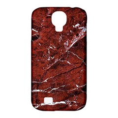 Texture Stone Red Samsung Galaxy S4 Classic Hardshell Case (pc+silicone) by Alisyart