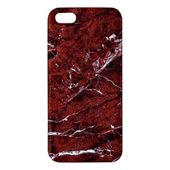 Texture Stone Red Iphone 5s/ Se Premium Hardshell Case by Alisyart