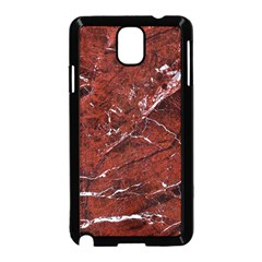 Texture Stone Red Samsung Galaxy Note 3 Neo Hardshell Case (black)