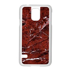 Texture Stone Red Samsung Galaxy S5 Case (white)