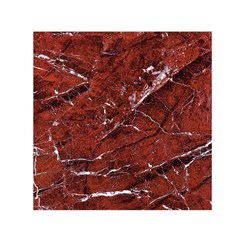 Texture Stone Red Small Satin Scarf (square)
