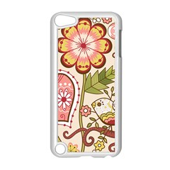 Seamless Texture Flowers Floral Rose Sunflower Leaf Animals Bird Pink Heart Valentine Love Apple Ipod Touch 5 Case (white) by Alisyart