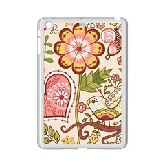 Seamless Texture Flowers Floral Rose Sunflower Leaf Animals Bird Pink Heart Valentine Love Ipad Mini 2 Enamel Coated Cases