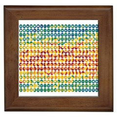 Weather Blue Orange Green Yellow Circle Triangle Framed Tiles