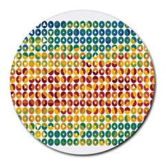 Weather Blue Orange Green Yellow Circle Triangle Round Mousepads by Alisyart
