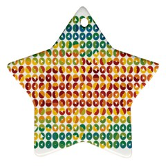 Weather Blue Orange Green Yellow Circle Triangle Ornament (Star)