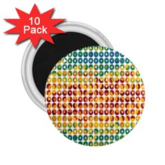 Weather Blue Orange Green Yellow Circle Triangle 2.25  Magnets (10 pack)