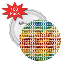 Weather Blue Orange Green Yellow Circle Triangle 2.25  Buttons (100 pack)